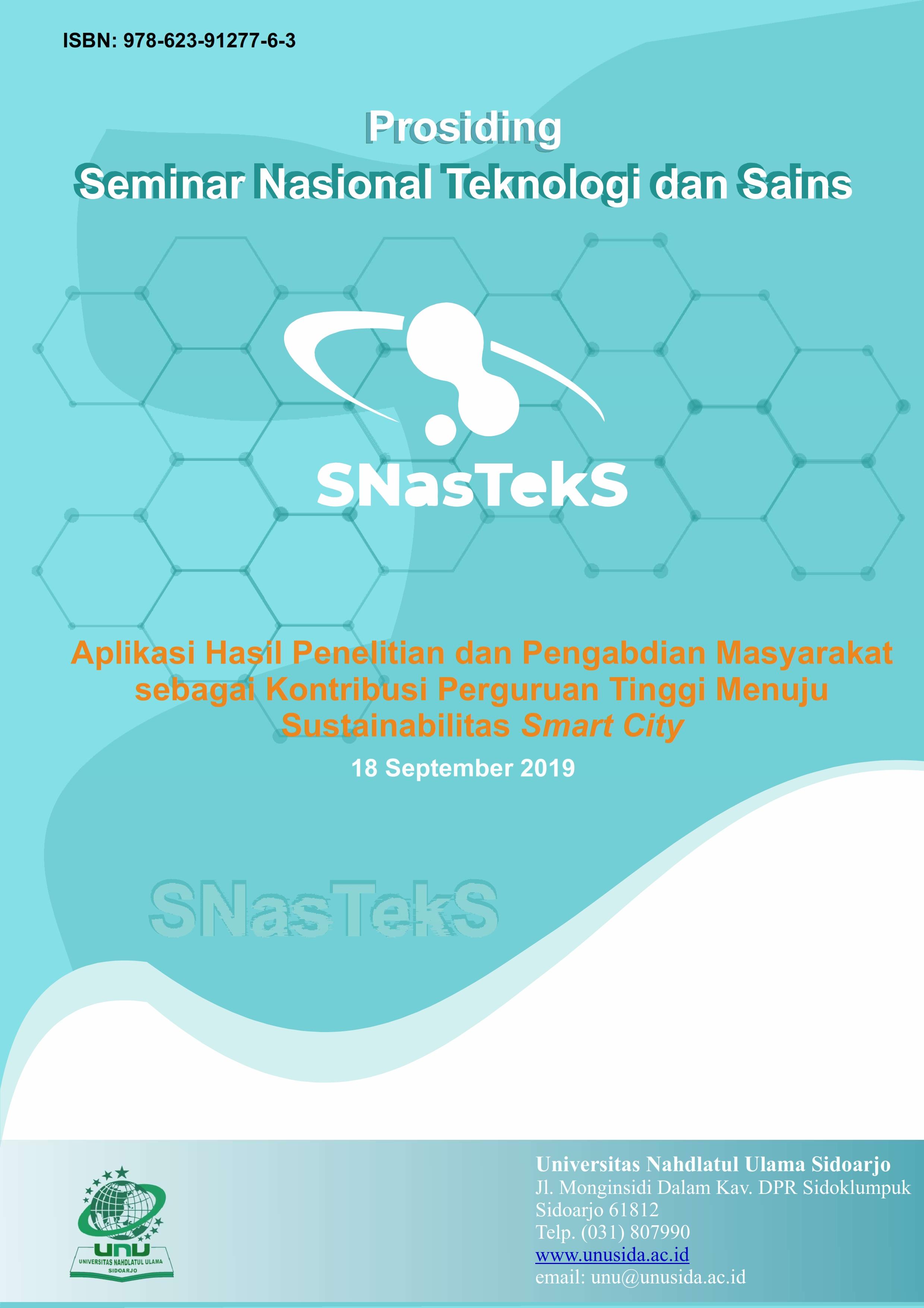 View Vol. 1 No. 1 (2019): e-Prosiding SNasTekS
