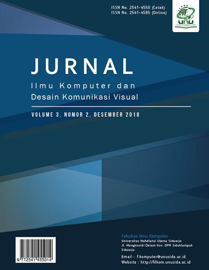 View Vol. 3 No. 2 (2018):  Jurnal Ilmu Komputer dan Desain Komunikasi Visual (JIKDISKOMVIS)