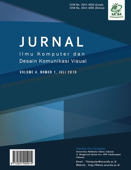 View Vol. 4 No. 1 (2019): Jurnal Ilmu Komputer dan Desain Komunikasi Visual (JIKDISKOMVIS)