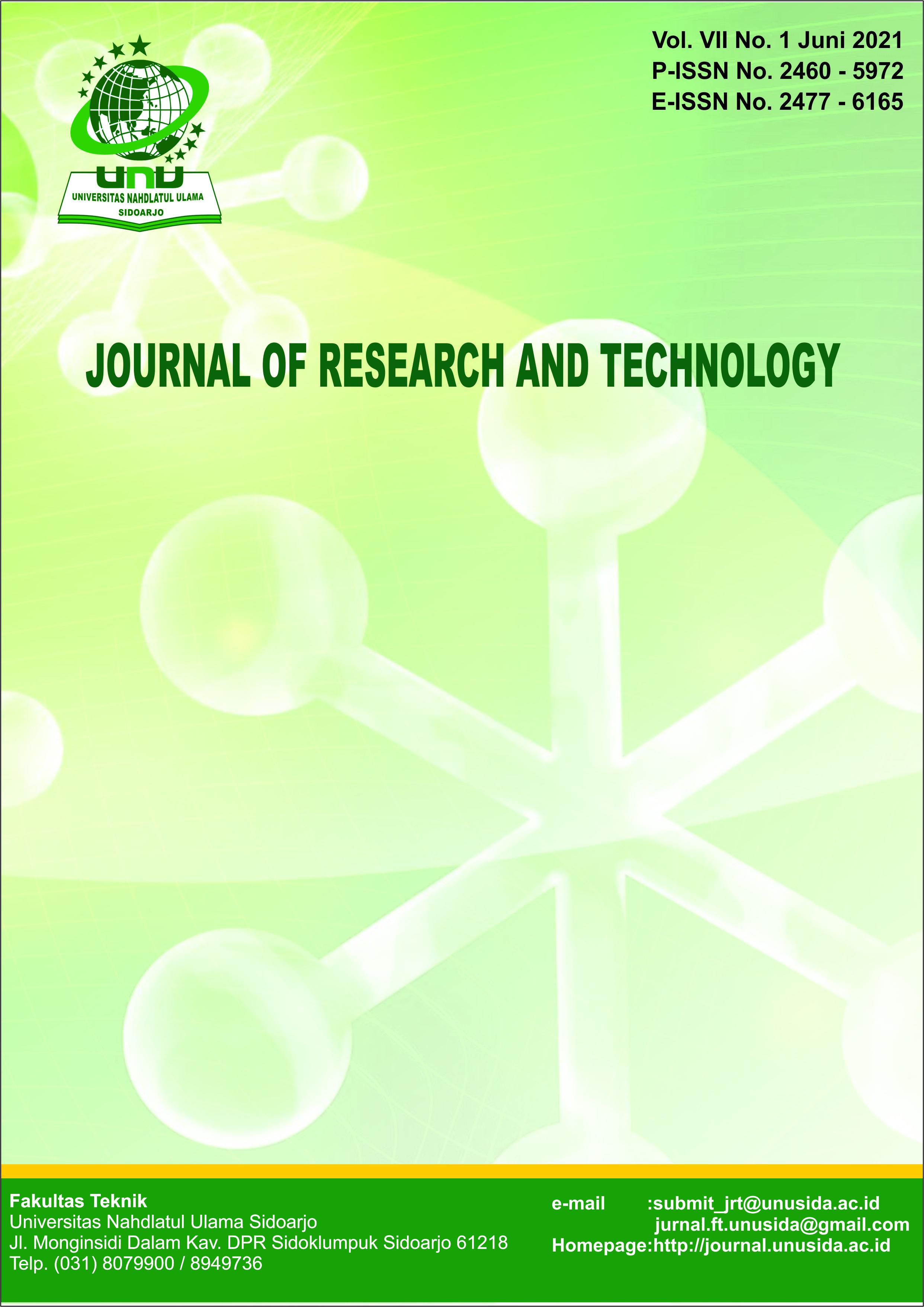 View Vol. 7 No. 1 (2021): JRT Volume 7 No 1 Jun 2021